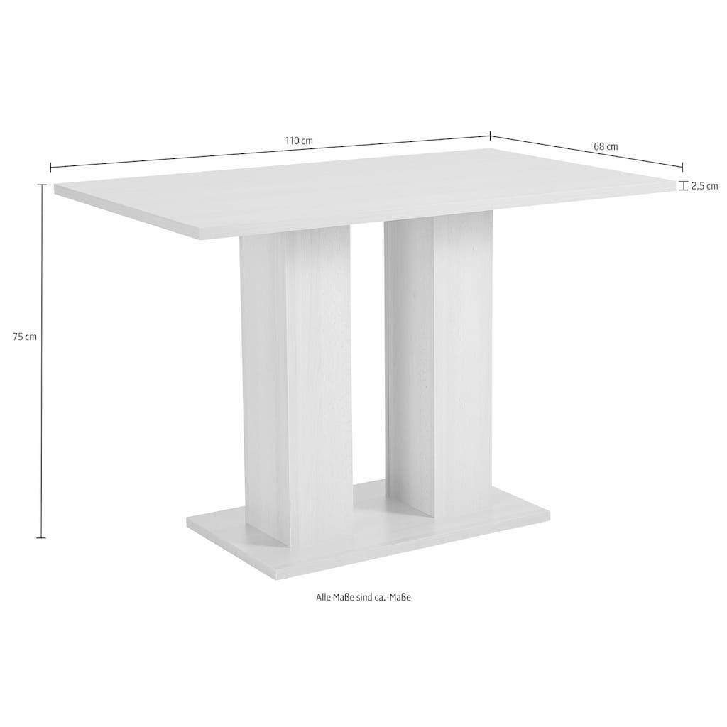 SCHÖSSWENDER Eckbankgruppe »Anna«, (Set, 4 tlg.), mit 2 Stühlen mit massiven Gestell