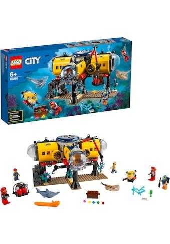 LEGO® Konstruktionsspielsteine »Meeresforschungsbasis (60265), LEGO® City Oceans«,... kaufen