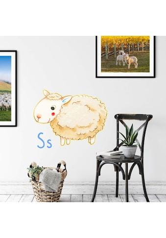 Wall-Art Wandtattoo »Schaf Tierwelt Buchstabe S« kaufen