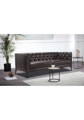 Leonique Chesterfield-Sofa »Narmada«, mit dekorativer Knopfheftung im Rückenteil und... kaufen