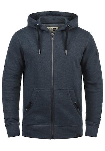 Solid Kapuzensweatjacke »Trip Tape Zip«, Sweatshirtjacke mit Kordel-Details kaufen