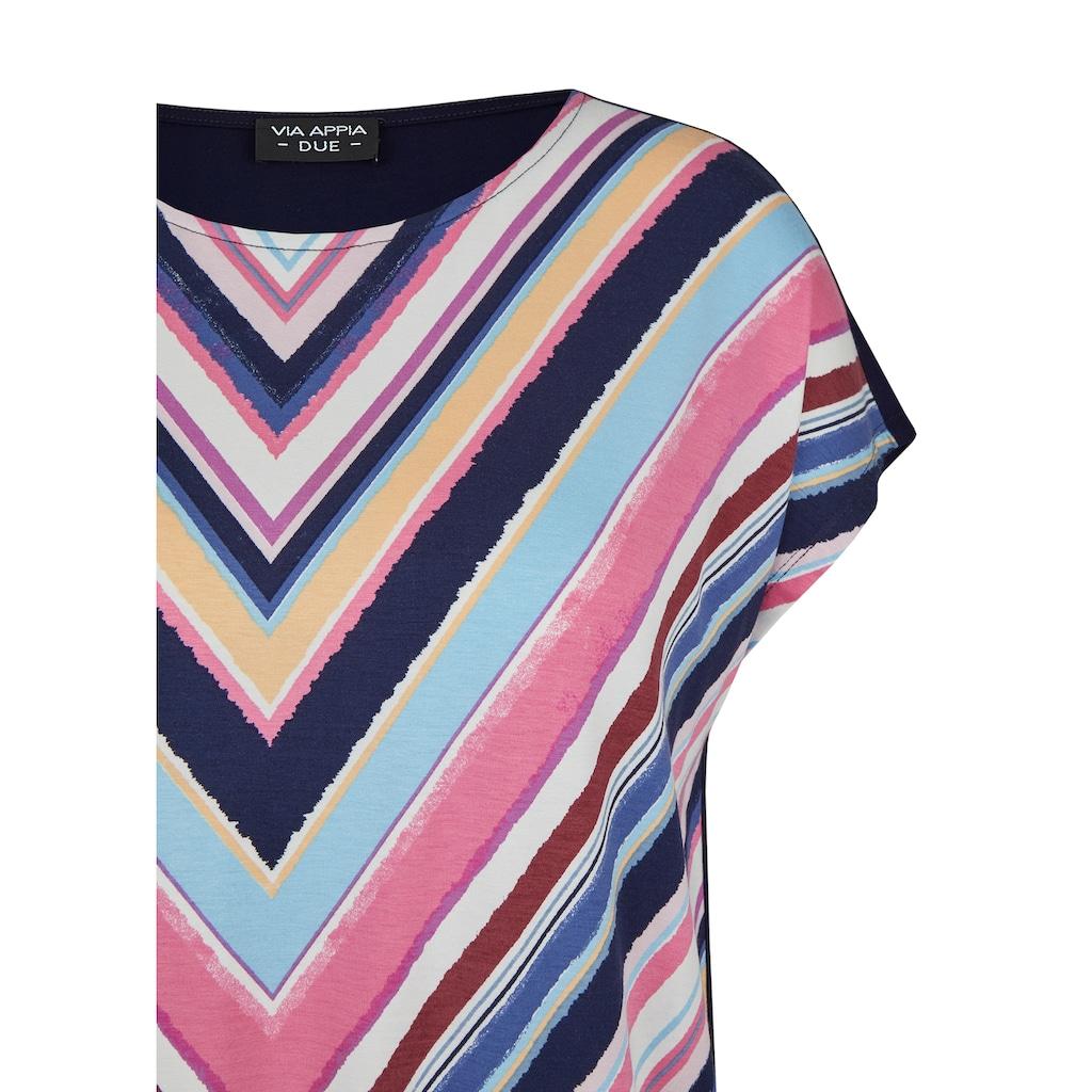 VIA APPIA DUE Print-Shirt, mit einfarbigem Rücken