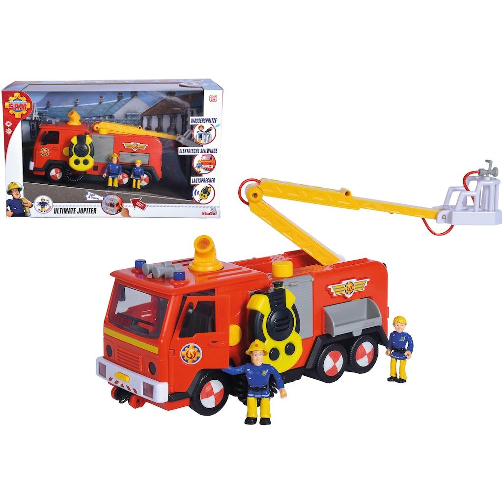 SIMBA Spielzeug-Feuerwehr »Feuerwehrmann Sam, Mega Deluxe Jupiter«, mit Licht und Sound