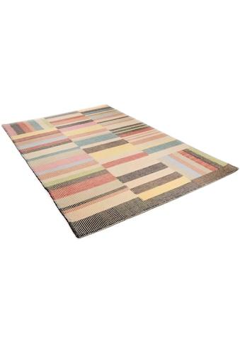 TOM TAILOR Wollteppich »Patch«, rechteckig, 6 mm Höhe, reine Wolle, Boho-Style,... kaufen
