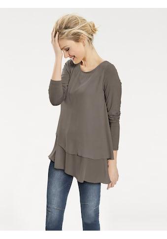 Rundhalsshirt im Lagen-Look kaufen