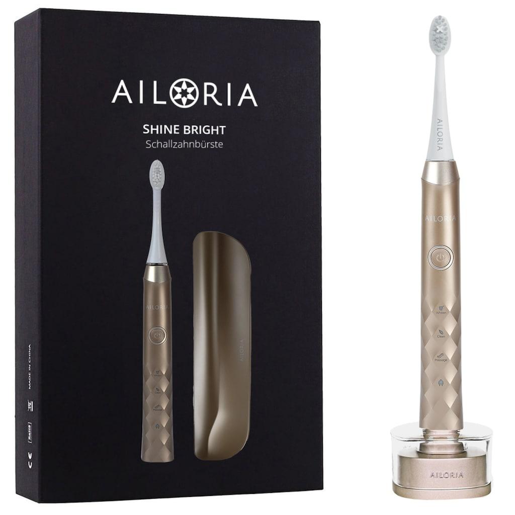 AILORIA Schallzahnbürste »SHINE BRIGHT«, 2 St. Aufsteckbürsten, USB mit Case - Limited Edition
