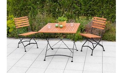 MERXX Gartenmöbelset »Schloßgarten«, (3 tlg.), 2 Klappstühle mit Gartentisch kaufen