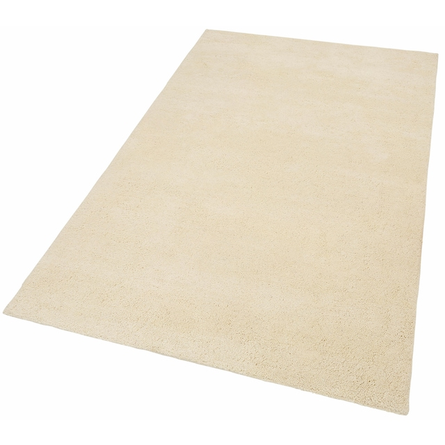 THEKO Wollteppich »Hadj Uni«, rechteckig, 25 mm Höhe, echter Berber, reine Wolle, handgeknüpft, Wohnzimmer