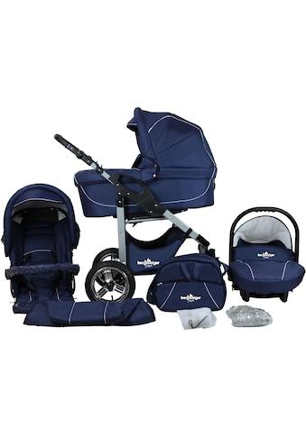 "bergsteiger Kombi - Kinderwagen ""Capri, marine blue, 3in1"", (10 - tlg.) kaufen"
