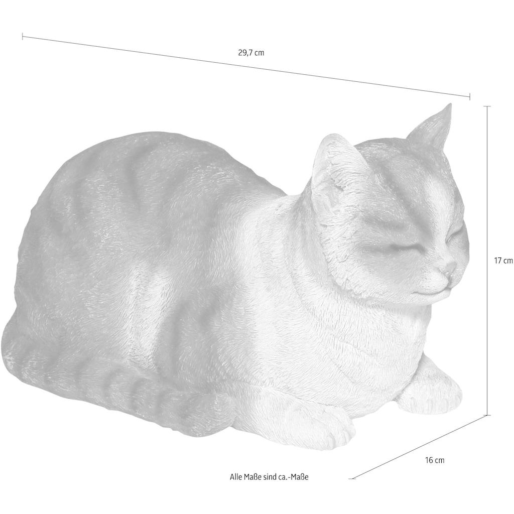 Casa Collection by Jänig Dekofigur »Katze«, grau-weiß, liegend