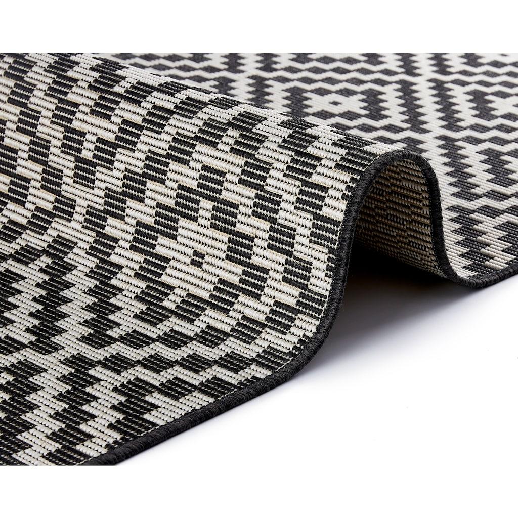 freundin Home Collection Teppich »Breeze«, rechteckig, 8 mm Höhe, Flachgewebe, In- und Outdoor geeignet, Rauten-Design, Für Terasse und Balkon, Wohnzimmer