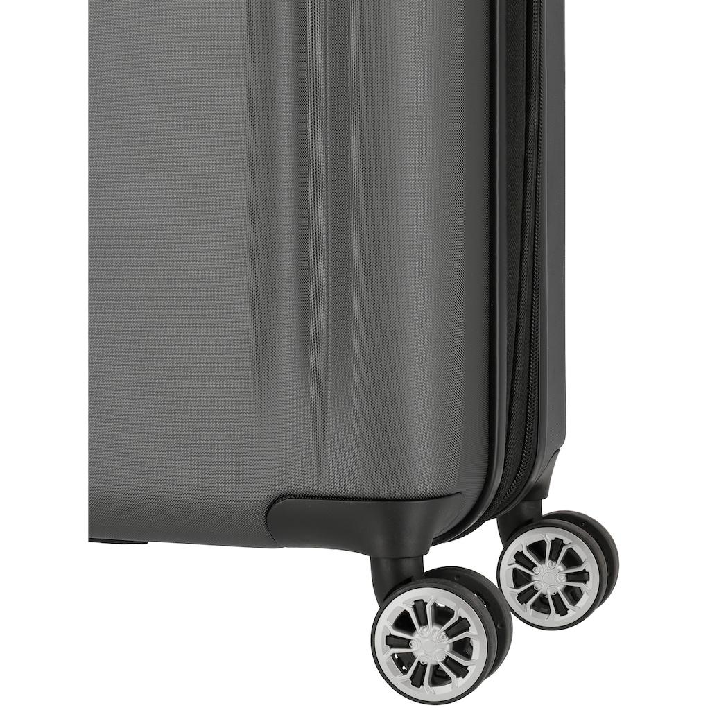 travelite Hartschalen-Trolley »City, 55 cm, anthrazit«, 4 Rollen, mit Volumenerweiterung