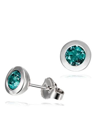 goldmaid Paar Ohrstecker, Silber 925 mit grünen Zirkonia kaufen