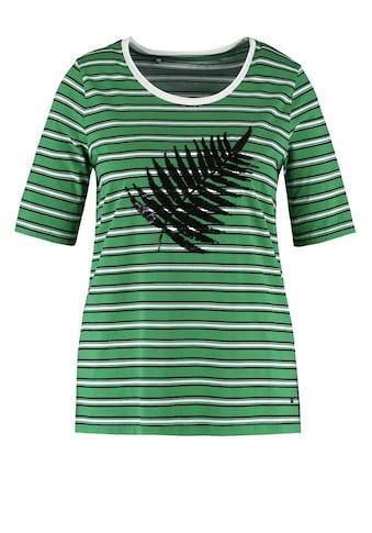 Samoon Rundhalsshirt »T - Shirt mit Pailletten - Dekor organic cotton« kaufen