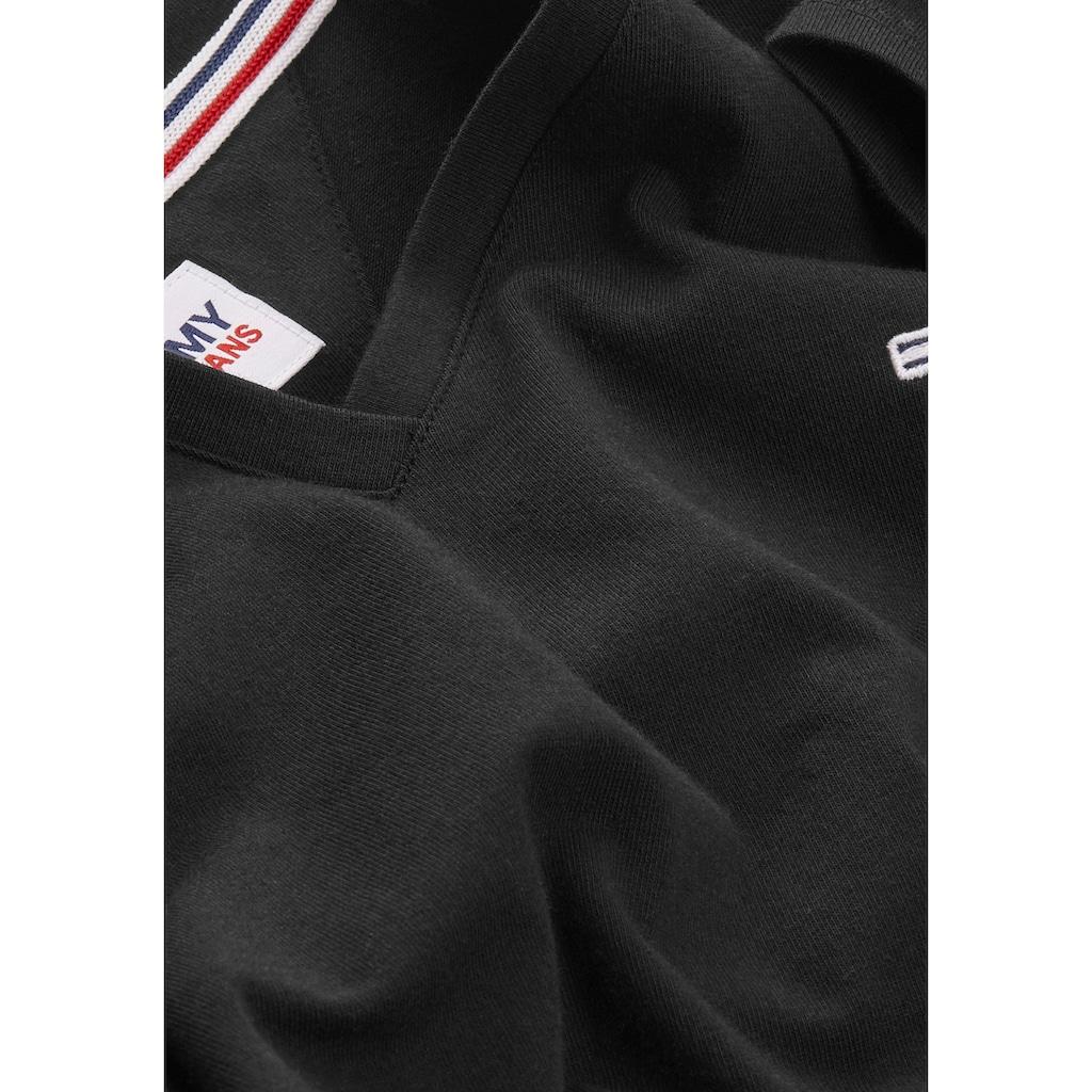 Tommy Jeans V-Shirt »TJW SKINNY STRETCH V NECK«, mitTommy Jeans Logo-Flag auf der Brust