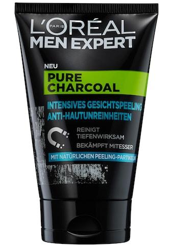 L'ORÉAL PARIS MEN EXPERT Gesichtspeeling »Pure Charcoal«, beseitigt Pickel, Mitesser &... kaufen