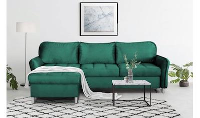 mokebo Ecksofa »Robin«, Schlafcouch mit losen Rückenkissen, Sofa mit Schlaffunktion &... kaufen
