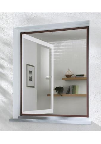 hecht international Insektenschutz-Fenster »MASTER SLIM«, braun/anthrazit, BxH: 100x120 cm kaufen