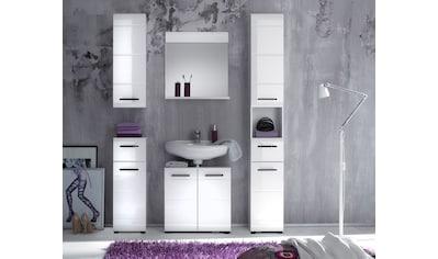 trendteam Badmöbel-Set »Skin«, (Set, 5 St.), Badezimmerschränke mit Fronten in... kaufen
