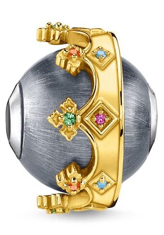 THOMAS SABO Bead »Krone gold, K0347-488-7«, mit synth. Korund, Glassteinen und Zirkonia kaufen