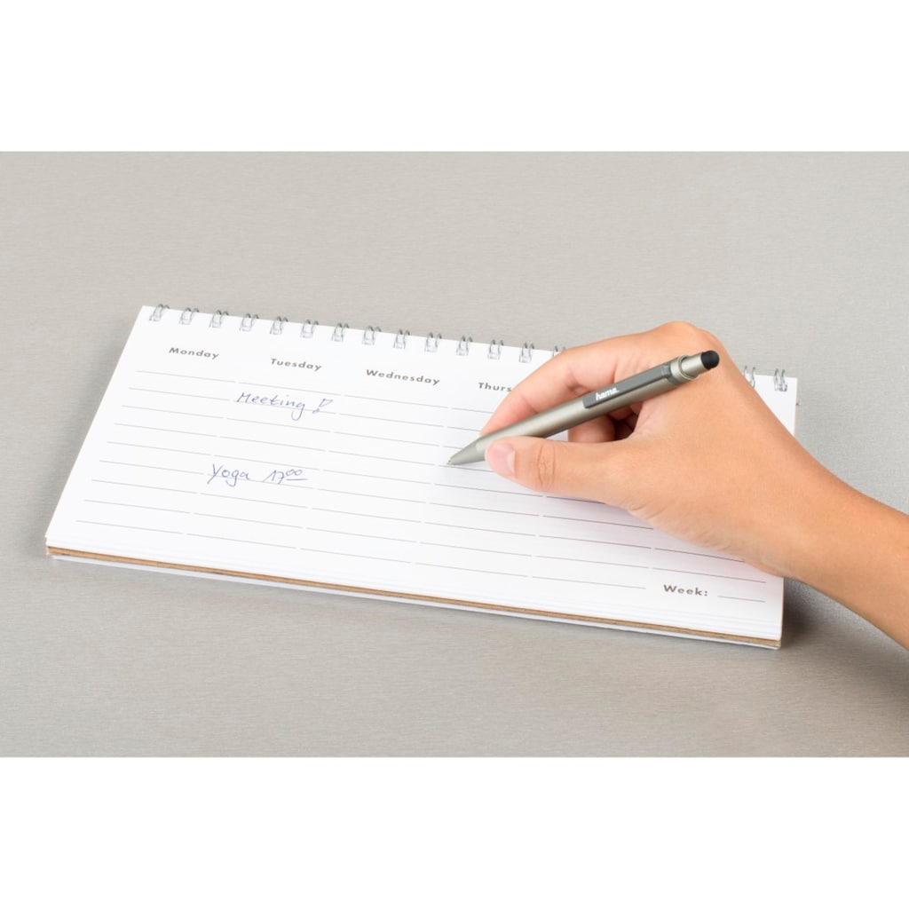 Hama Eingabestift »Stift zum Schreiben/Zeichnen«, für Tablet/Handy, integrierter Kugelschreiber