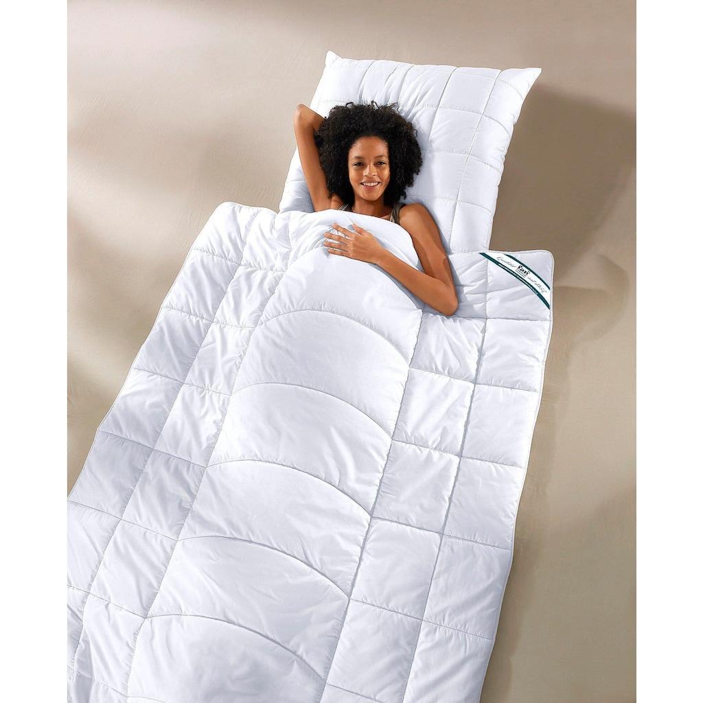 f.a.n. Schlafkomfort Microfaserbettdecke »Körperzonensteppung«, Füllung Polytherm (100% Polyester), Bezug Microfaser-Feinbatist, uni (100% Polyester), (1 St.)