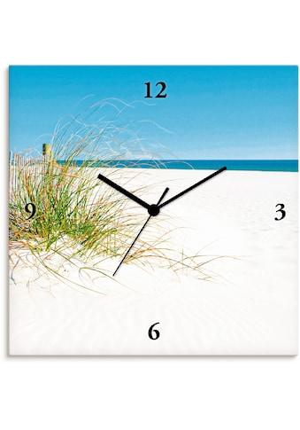 Artland Wanduhr »Schöne Sanddüne mit Gräsern und Zaun«, lautlos, ohne Tickgeräusche,... kaufen