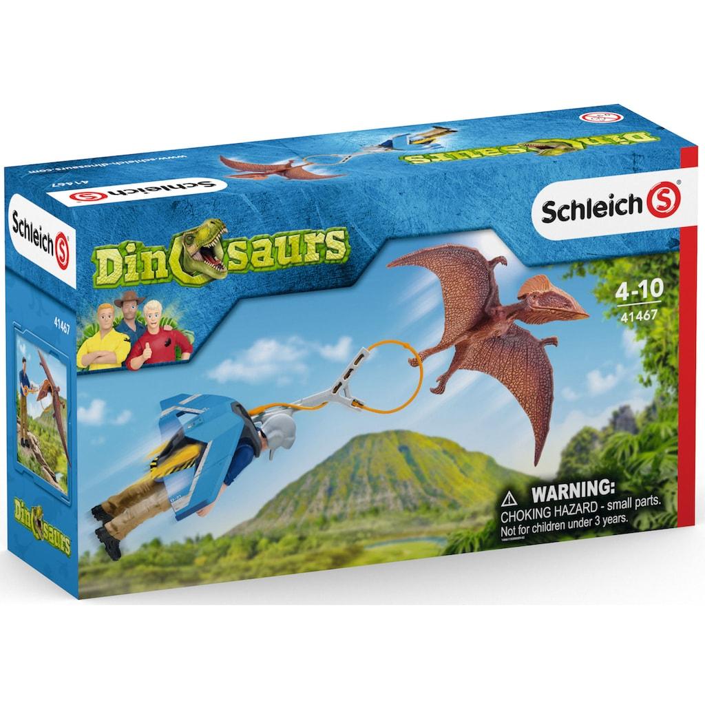 Schleich® Spielfigur »Dinosaurs, Jetpack Verfolgung (41467)«, mit besonderem Flugsaurier