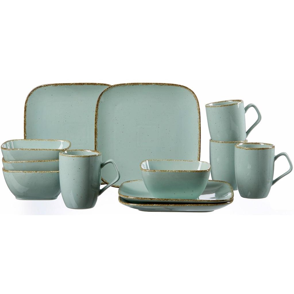 Ritzenhoff & Breker Frühstücks-Geschirrset »CASA«, (Set, 12 tlg.), Vintage/Used-Look
