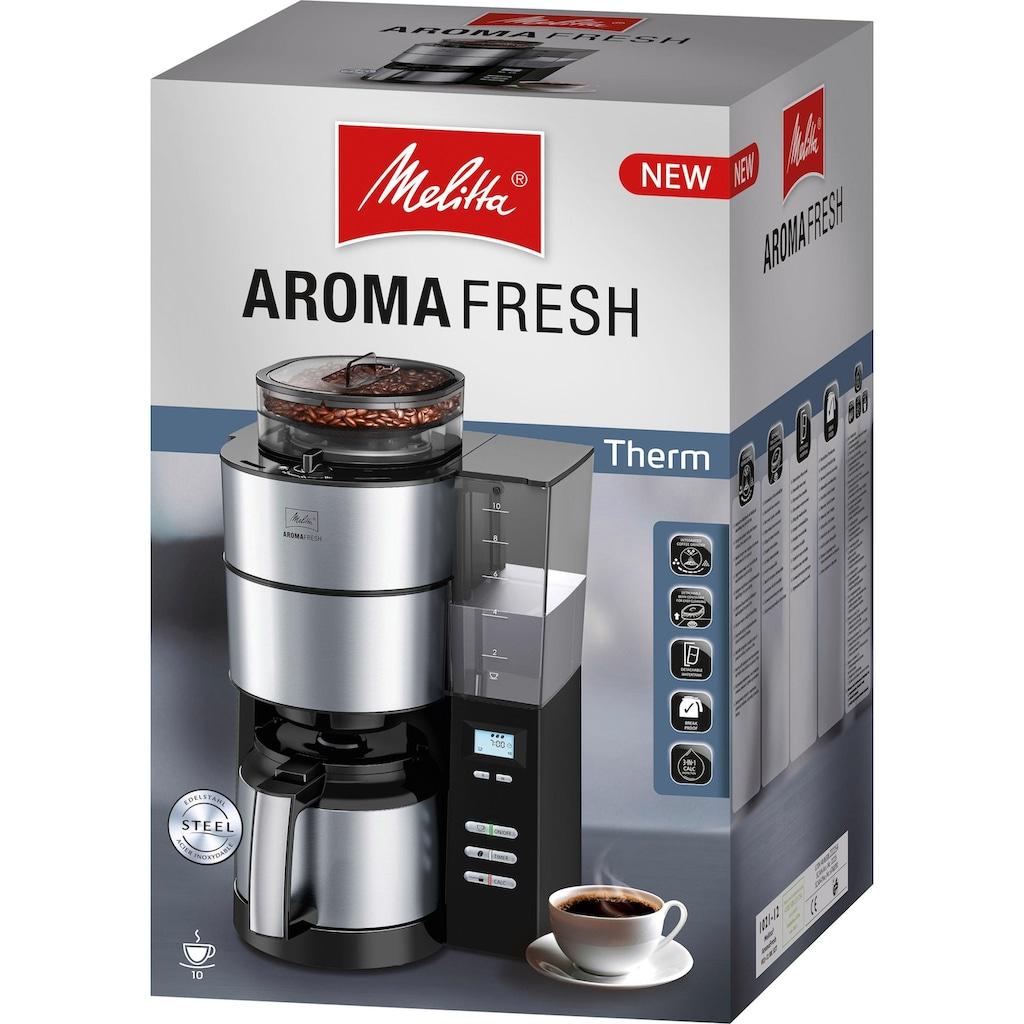 Melitta Kaffeemaschine mit Mahlwerk »AromaFresh Therm 1021-12«, Papierfilter, 1x4