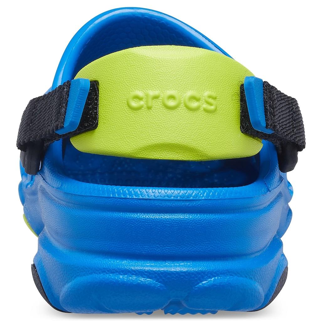 Crocs Clog »Bright Cobalt Classic All-Terrain Clog K«, mit kontrastfarbenem Fersenriemen
