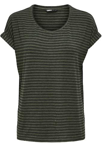 Only Rundhalsshirt »ONLMOSTER«, in Streifen Optik kaufen