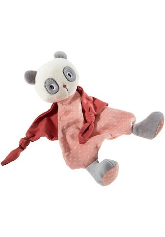 Heunec® Schnuffeltuch »FrohNATURen Panda Cranberry«, mit individueller Bestickung;... kaufen