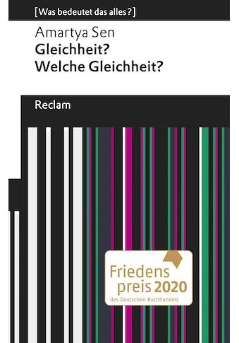 Buch »Gleichheit? Welche Gleichheit? / Amartya Sen, Ute Kruse-Ebeling, Ute Kruse-Ebeling« kaufen