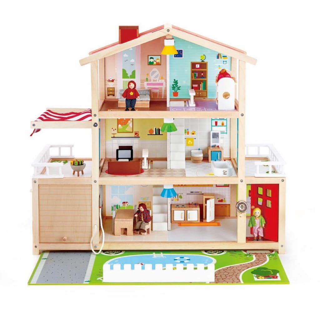 Hape Puppenhaus »Puppen-Villa«, inkl. Puppenmöbel