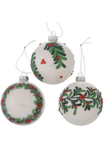 BOLTZE Weihnachtsbaumkugel »Norgard«, (Set, 3 St.) kaufen