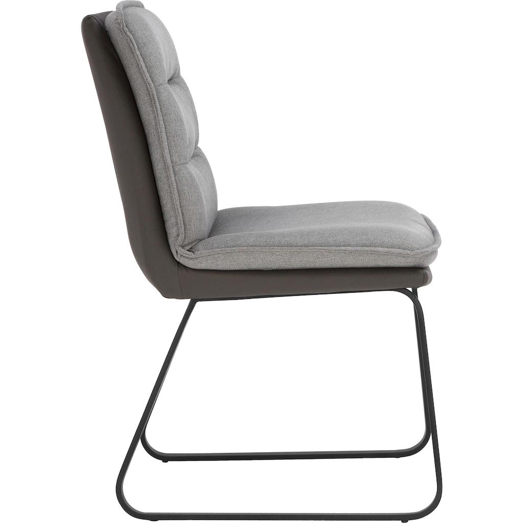 Places of Style Esszimmerstuhl »Ontario«, 2er-Set in modernem Design. Zwei Bezugsqualitäten, Sitz und Rücken gepolstert