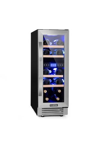 Klarstein Zweizonen - Weinkühlschrank 53l 17 Fl. 3 - Farben Glastür »Vinovilla - Duo17« kaufen