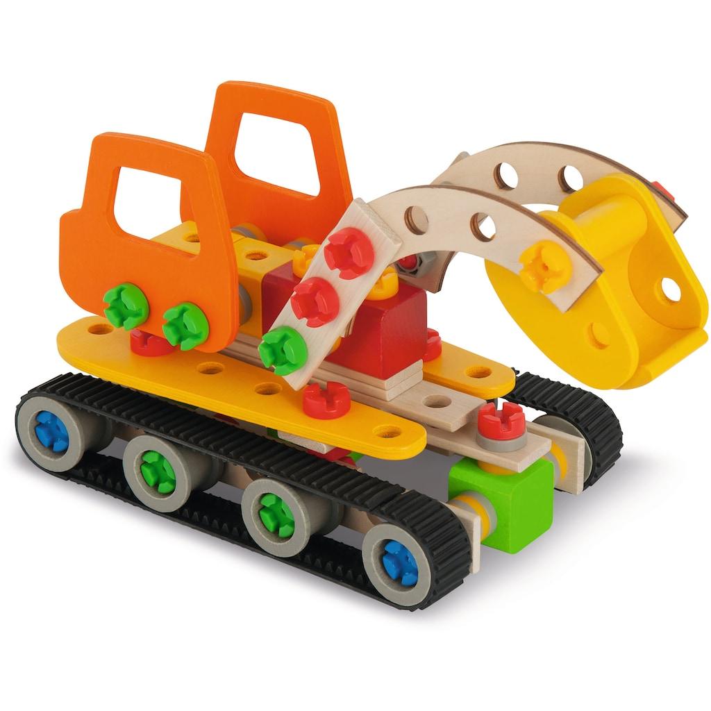 Eichhorn Konstruktionsspielsteine »Constructor Raupenbagger«, (170 St.), Made in Germany, FSC®-Holz aus gewissenhaft bewirtschafteten Wäldern