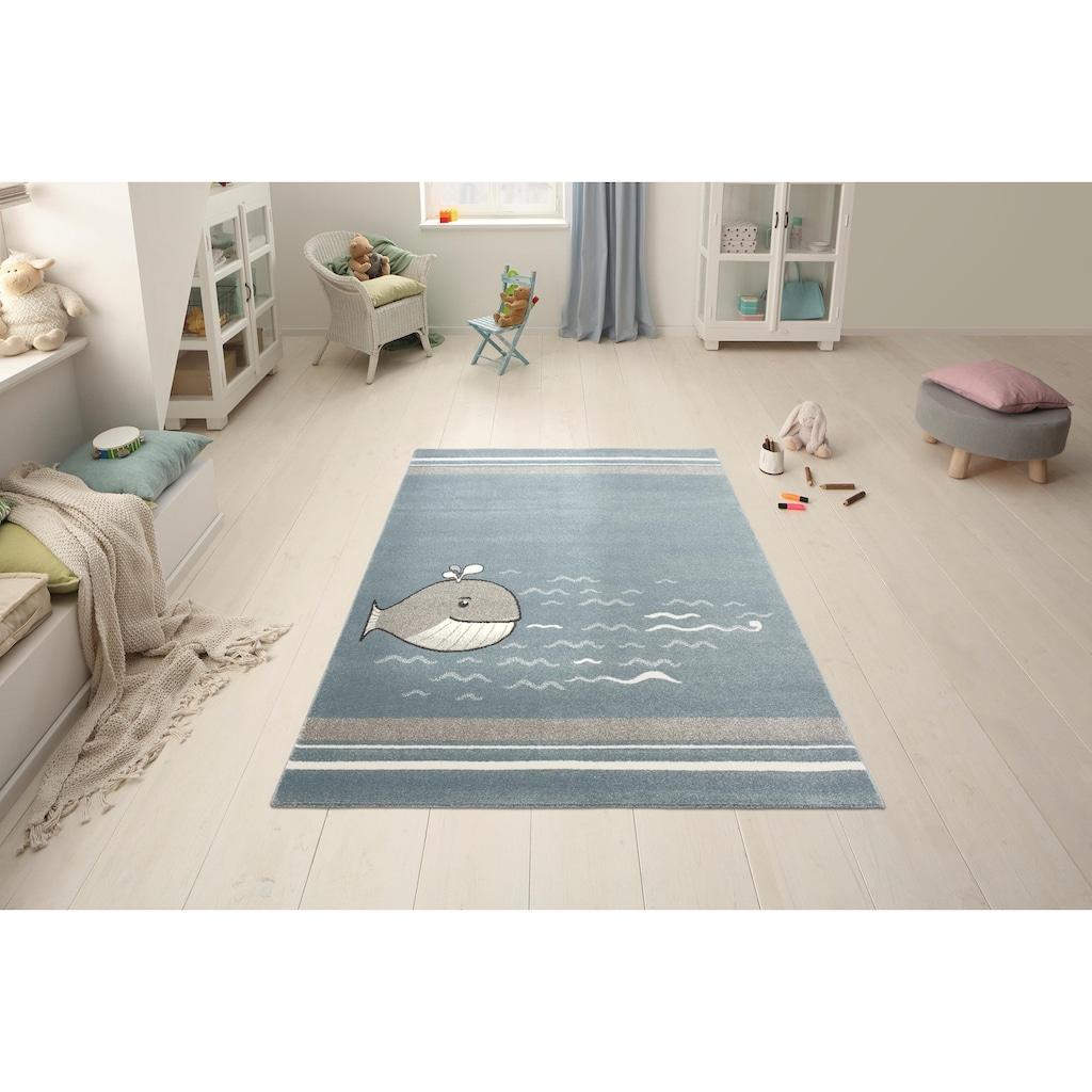 Lüttenhütt Kinderteppich »Whale«, rechteckig, 14 mm Höhe, Motiv Wal
