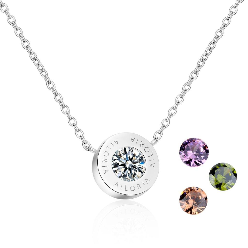 AILORIA Kette mit Anhänger »AGNÈS Halskette Silber«, Hochglanz-Finish