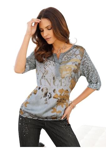 Classic Inspirationen Blusenshirt mit schönem Druck kaufen