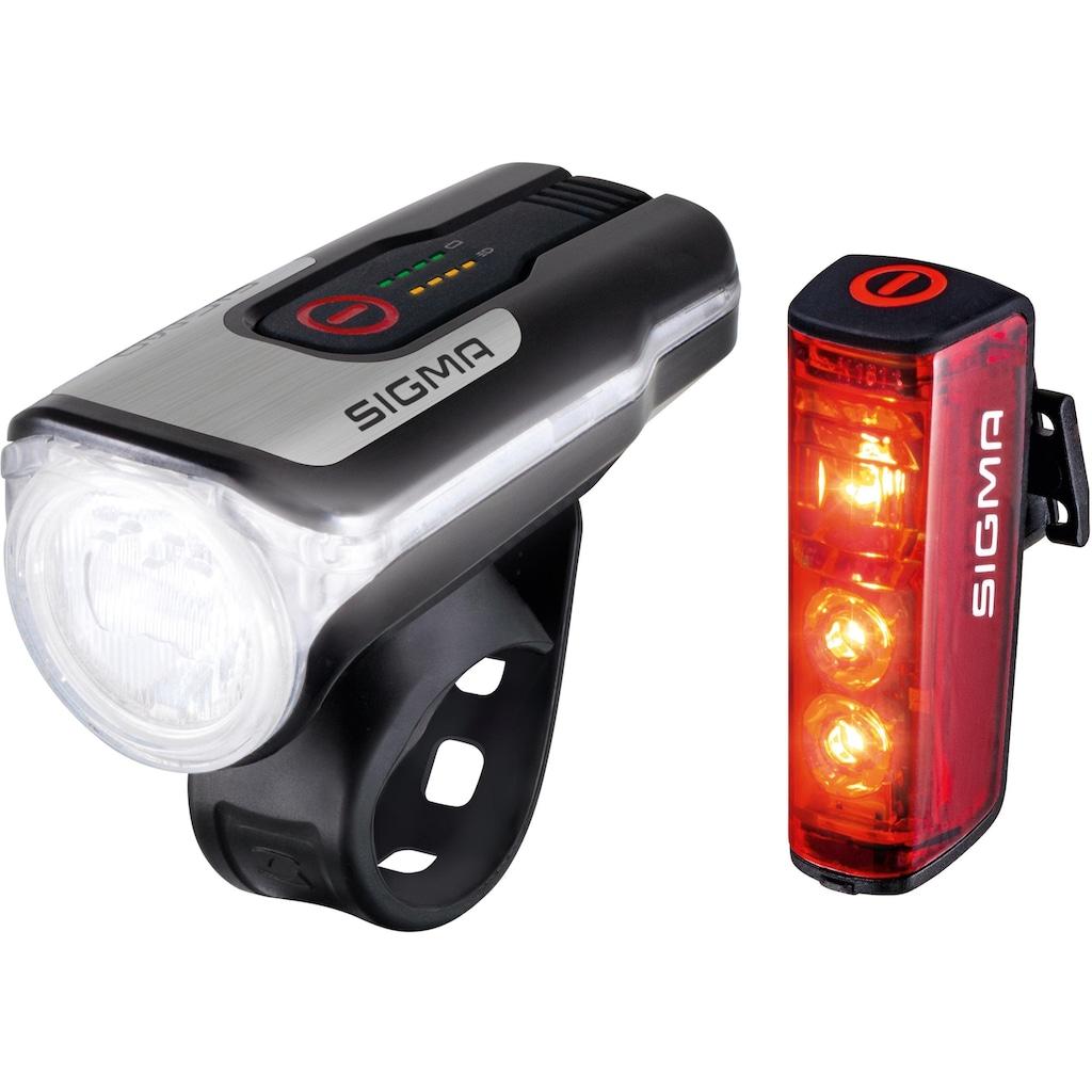 SIGMA SPORT Fahrradbeleuchtung »AURA 80 USB / BLAZE Kpmplett Set«, (Set, 3, Front- und Rücklicht)