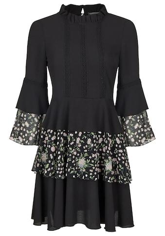 Nicowa Mini-Kleid mit Volants und Blumenprint - NIFLORO kaufen
