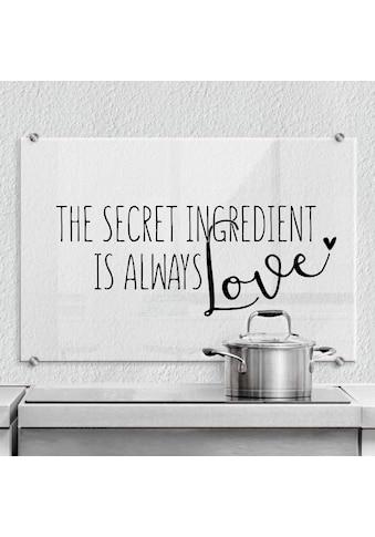 Wall-Art Küchenrückwand »The secret ingredient is love« kaufen