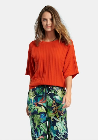 include 3/4 Arm-Pullover »im Kimono-Style«, mit Rippoptik kaufen