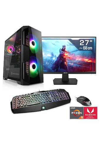 "CSL Multimedia PC Set Ryzen 5 3400G | Vega 11 | 16 GB | 27"" TFT »Sprint T8482 Windows 10 Home« kaufen"