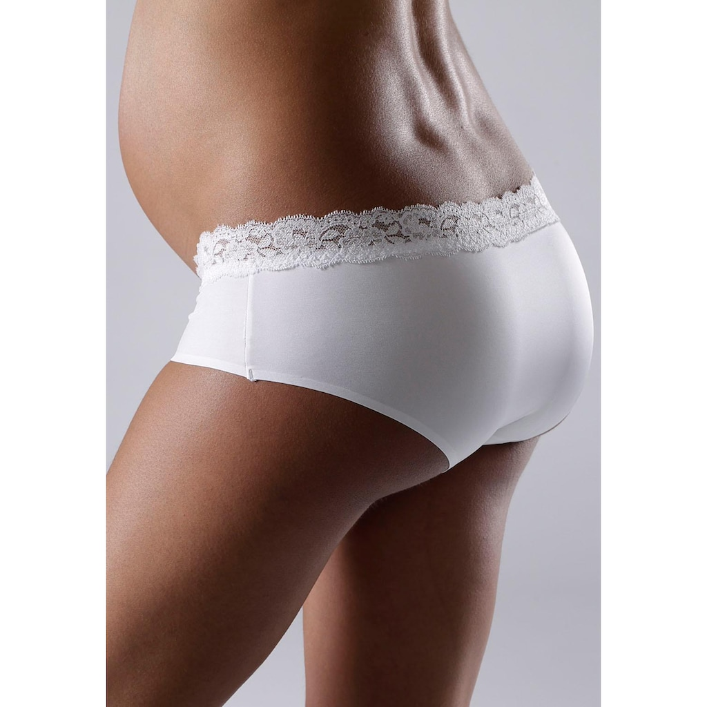 petite fleur Schwangerschaftsslip, (2er-Pack), in Pantyform mit Spitzenband