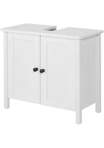 WELLTIME Waschbeckenunterschrank »Sylt«, Landhaus, Breite 65 cm, aus Massivholz kaufen
