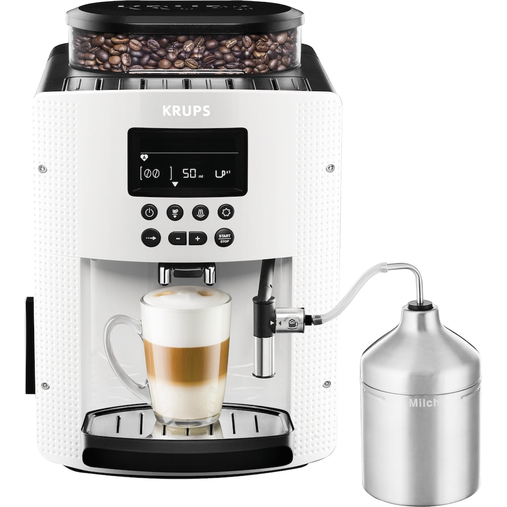 Krups Kaffeevollautomat EA8161, 1,8l Tank, Kegelmahlwerk